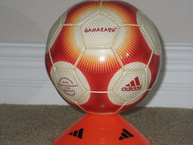 2000 Gamarada Olympic Ball on stand Gamarada Olympic 2000 Soccer Ball