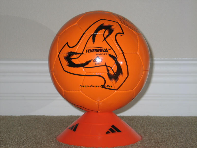 2002 World Cup Fevernova Orange Ball-1 Official World Cup Soccer Ball 2002 - Fevernova