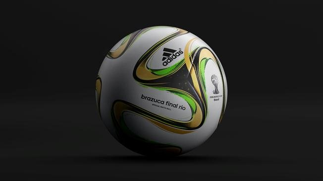 Brazuca Final Rio Official Match Ball - 2014 World Cup Brazuca Soccer Ball