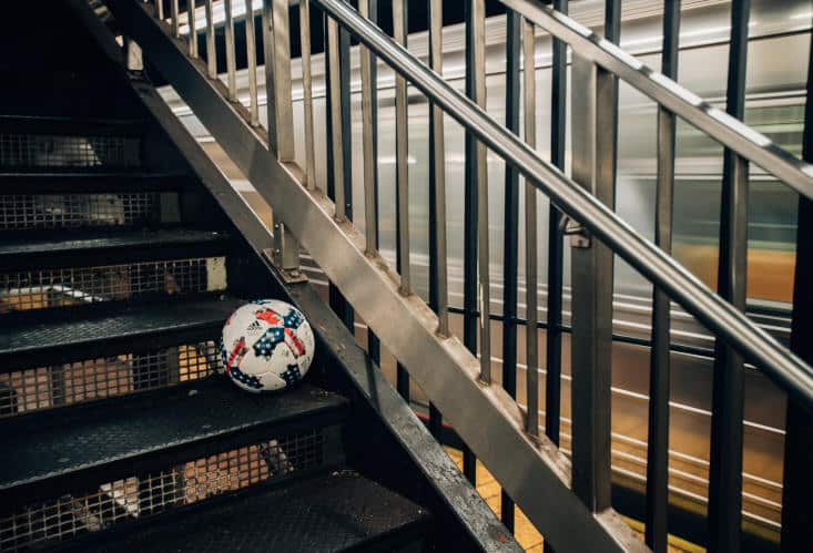 ball on stairs 2017 Major League Soccer Official Match Ball - NATIVO