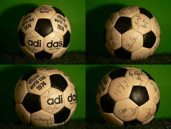 Telstar_1974_Signed Official World Cup 1974 Durlast Soccer Ball