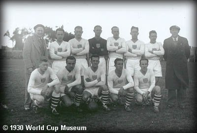 1930 world cup team 2 The First World Cup Soccer Ball