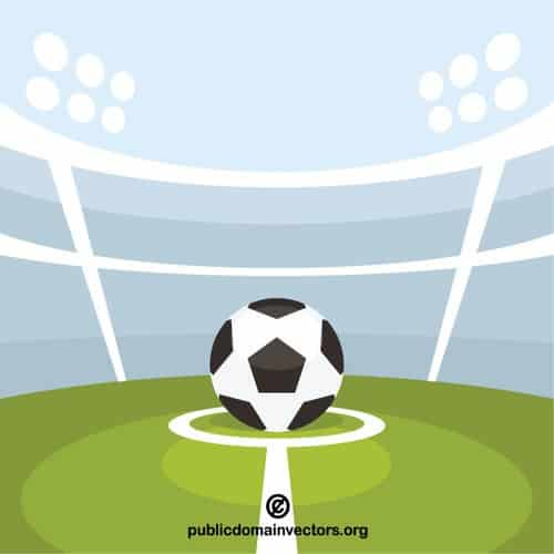 ball in center circle soccer ball clip art