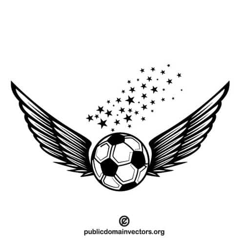 ball with wings soccer ball clip art