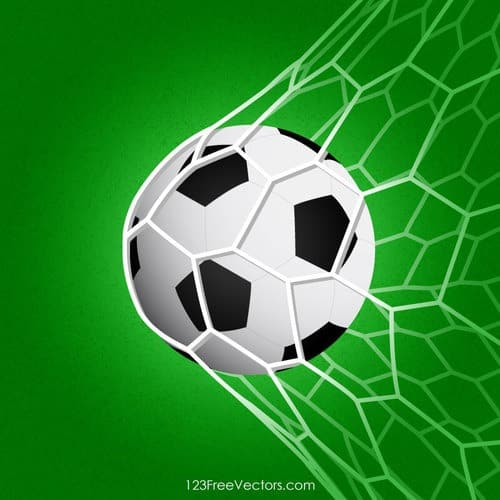 ball hitting net soccer ball clip art