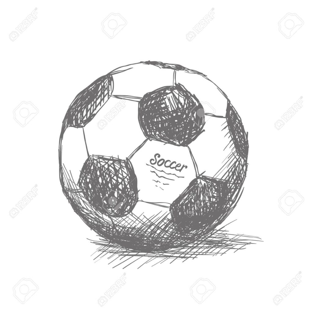 Soccer ball drawing Soccer ball drawings