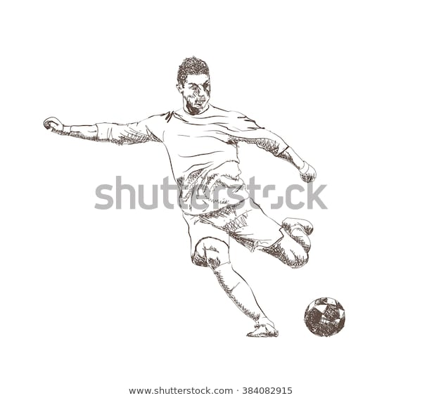 Ronaldo drawing Soccer ball drawings