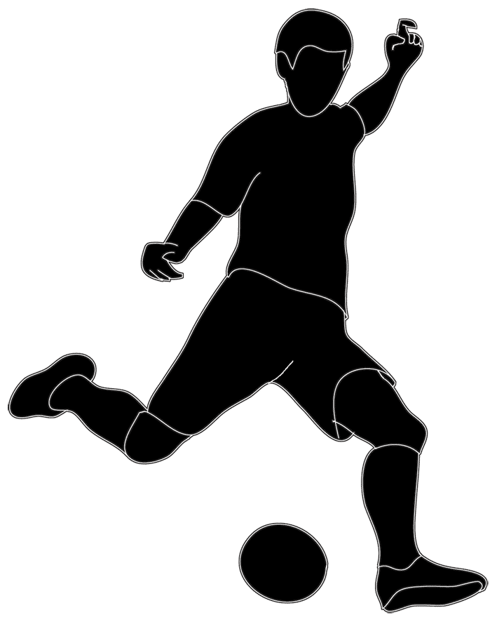 player kicking ball soccer ball clip art