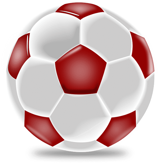 red and white soccer ball Soccer Ball Design