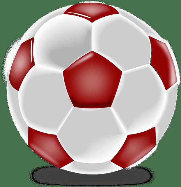 red and white soccer ball Soccer Ball Design