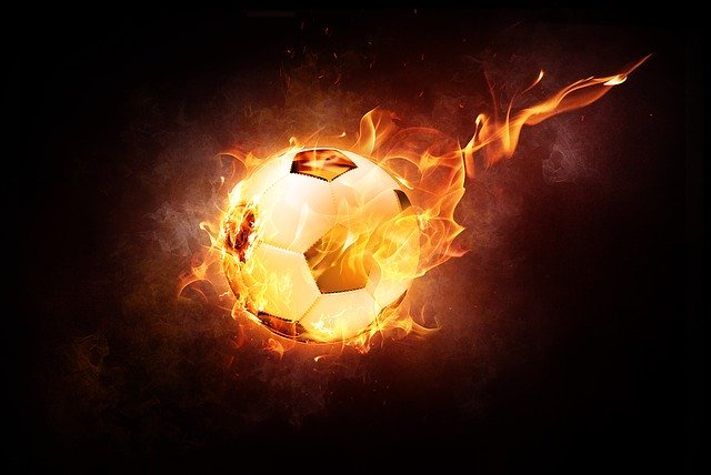 Football on fire Soccer Turbulent Air & Drag