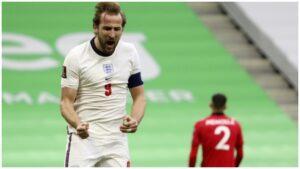 Harry Kane in England Kit
